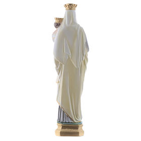 Our Lady of Mount Carmel statue in iridescent plaster 40cm s4