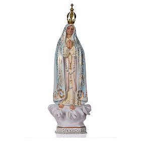 Madonna di Fatima gesso 30 cm s1