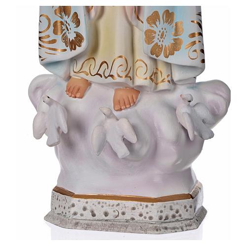 Madonna di Fatima gesso 30 cm 4
