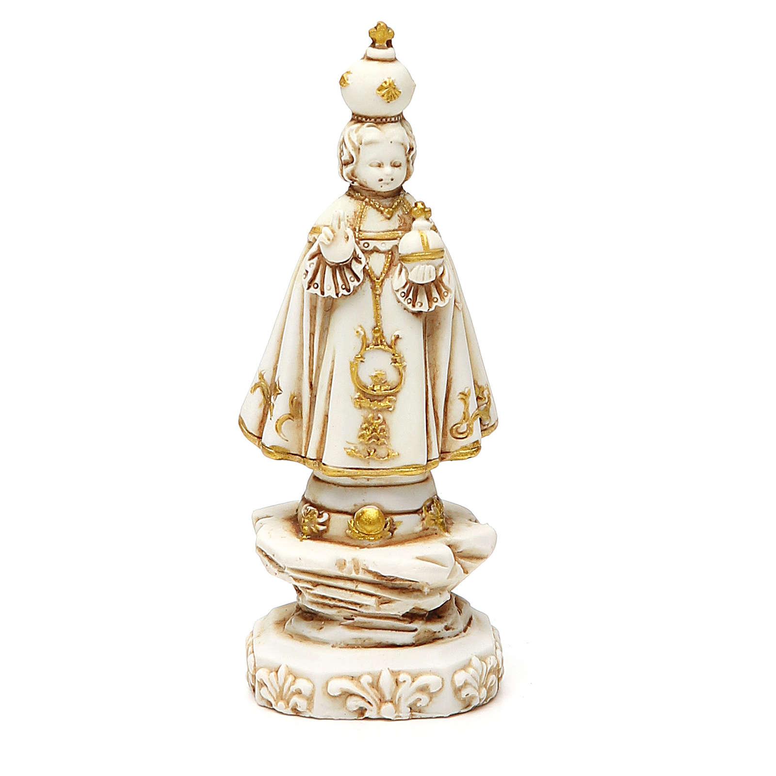 STOCK Gesù Bambino di Praga 12 cm gesso avorio 4