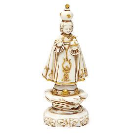 STOCK Gesù Bambino di Praga 12 cm gesso avorio s1