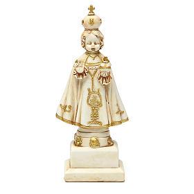 STOCK Infant Jesus of Prague statue 15 cm gypsum ivory s1