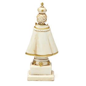 STOCK Infant Jesus of Prague statue 15 cm gypsum ivory s2