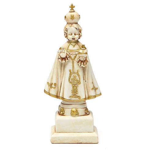 STOCK Infant Jesus of Prague statue 15 cm gypsum ivory 1