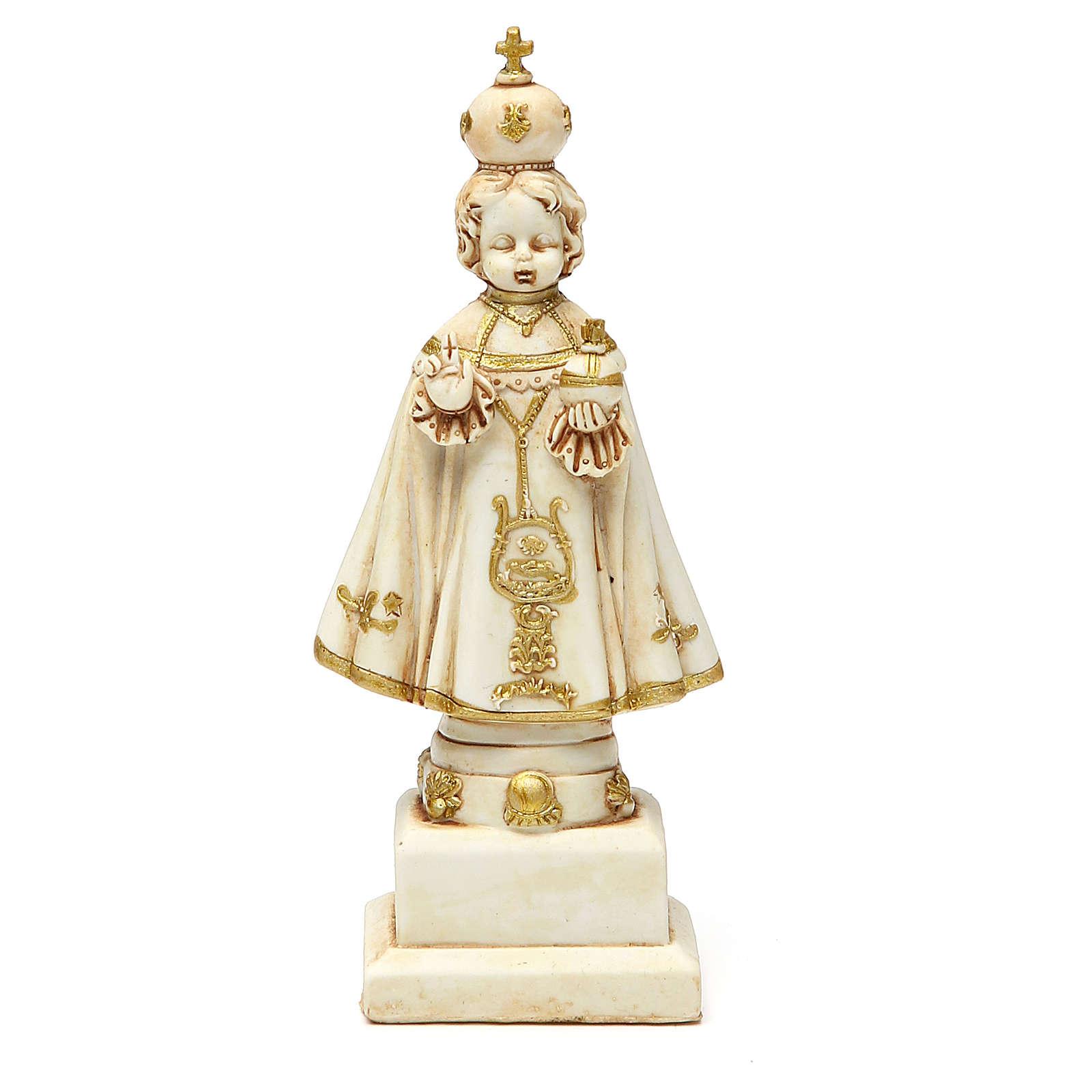 STOCK Niño Jesús de Praga 15 cm de yeso color marfil 4