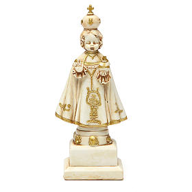 STOCK Infant Jesus of Prague statue 15 cm gypsum ivory s1