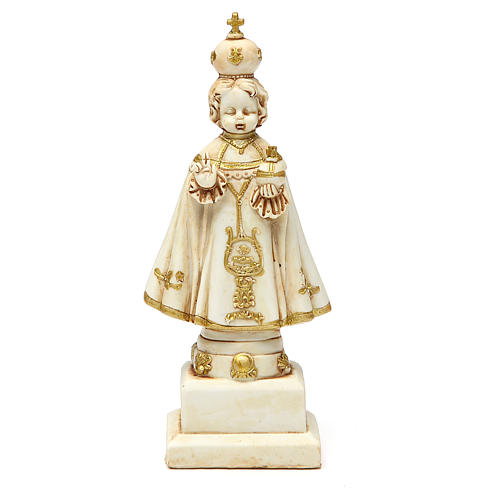 STOCK Infant Jesus of Prague statue 15 cm gypsum ivory 1