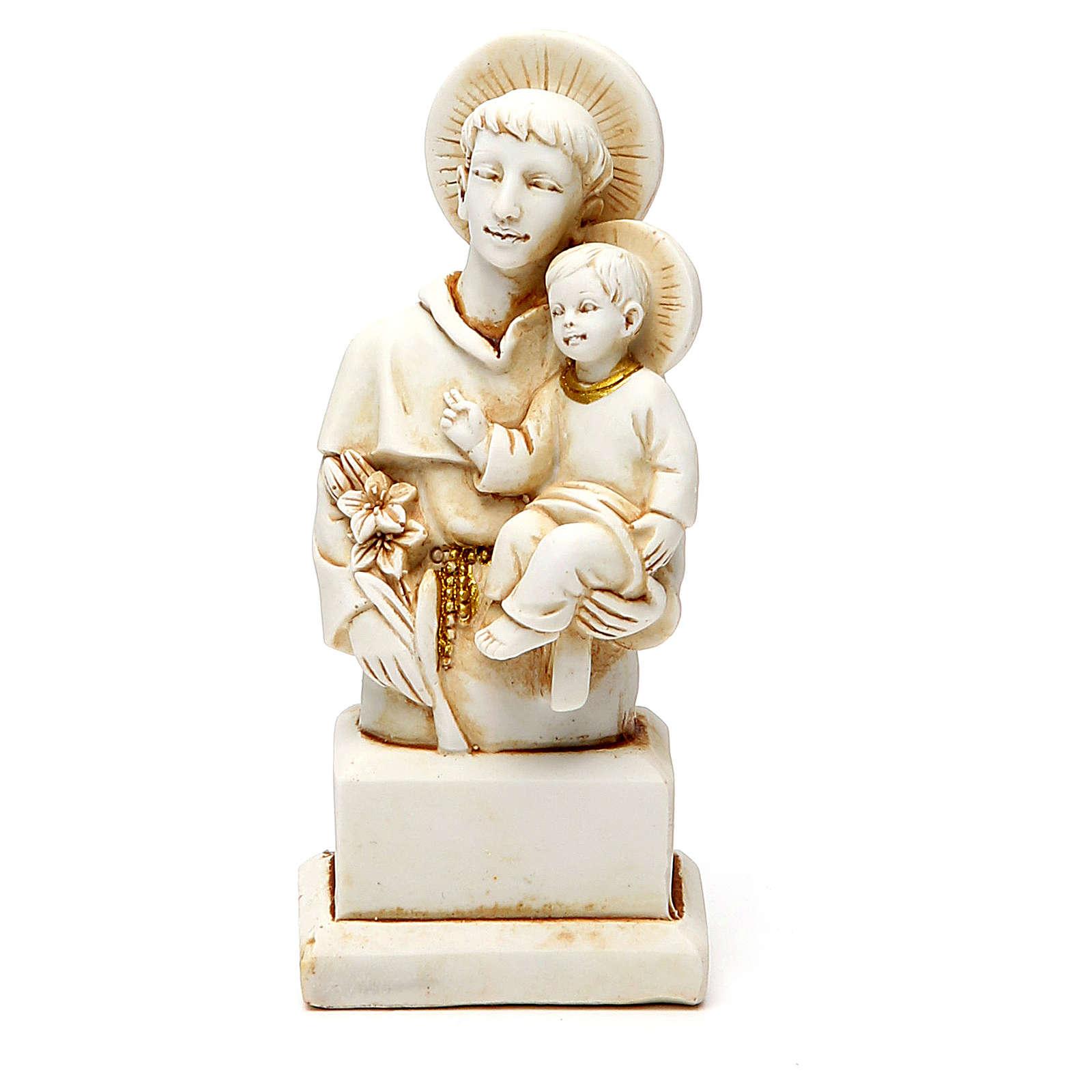 STOCK Sant'Antonio 12 cm gesso avorio 4