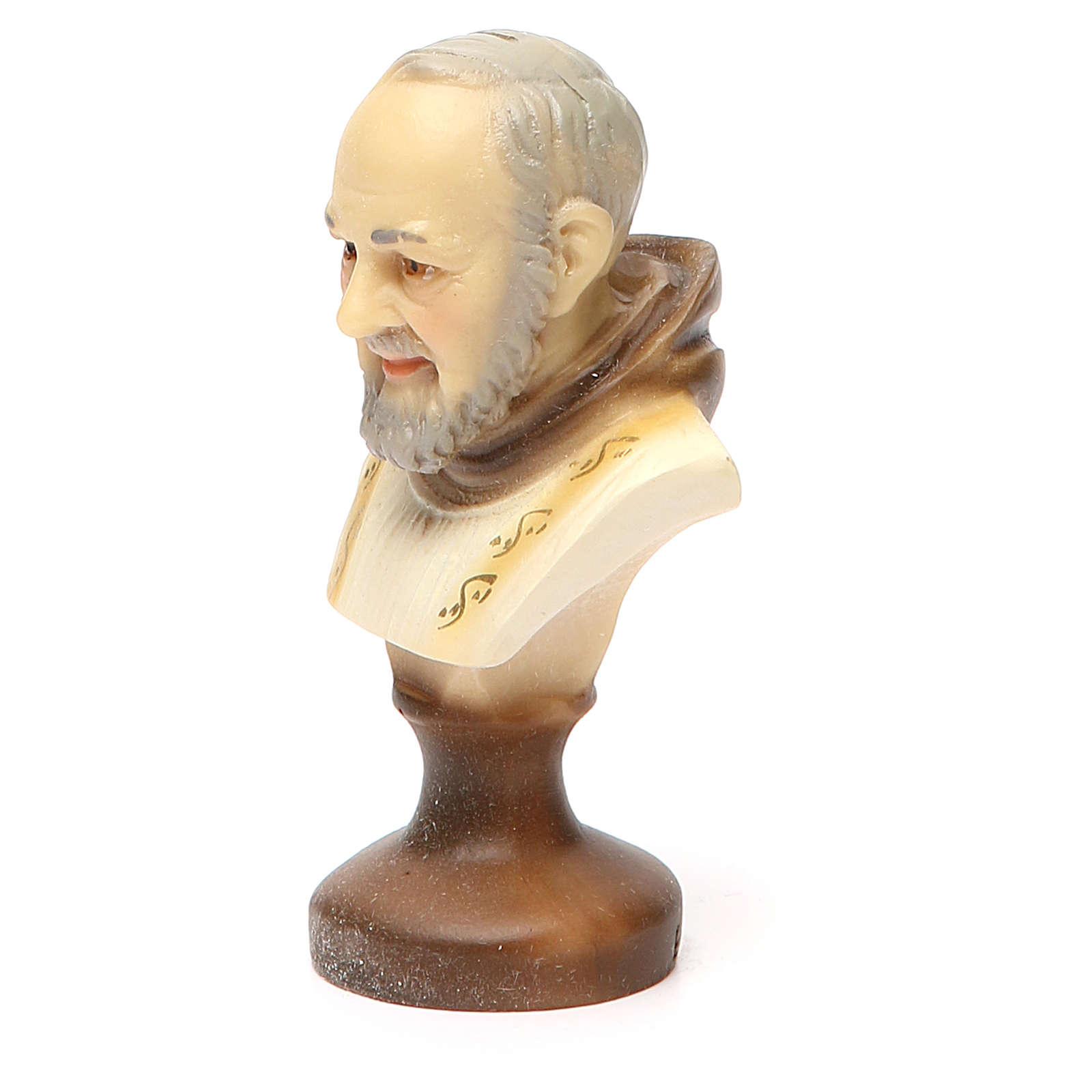 STOCK Padre Pio bust gypsum 10 cm 4