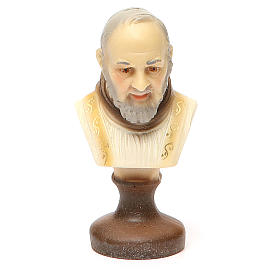 STOCK Padre Pio bust gypsum 10 cm s1