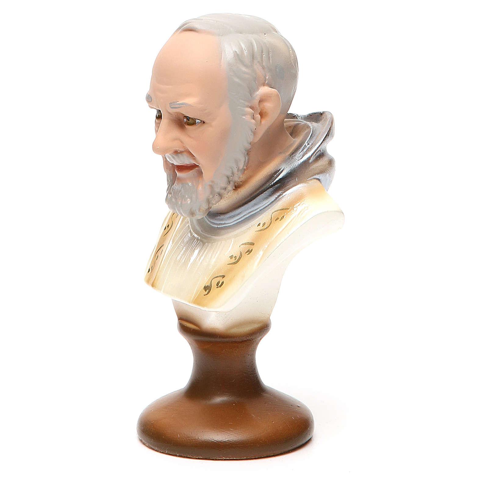 STOCK Padre Pio busto gesso 14 cm 4