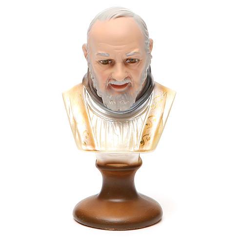 STOCK Padre Pio busto gesso 14 cm 1