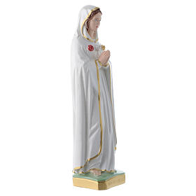 Our Lady of Rosa Mystica in pearlized plaster statue, 30 cm s2
