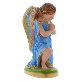 Angel in prayer with blue dress 25 cm gypsum s2