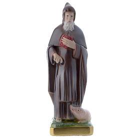 Sant'Antonio Abate 20 cm statua gesso madreperlato s1