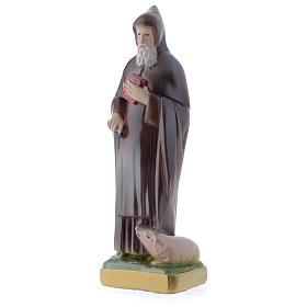 Sant'Antonio Abate 20 cm statua gesso madreperlato s2