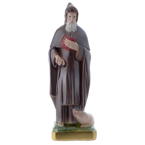 Sant'Antonio Abate 20 cm statua gesso madreperlato 1