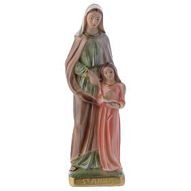 Sant'Anna 20 cm statua gesso madreperlato s1