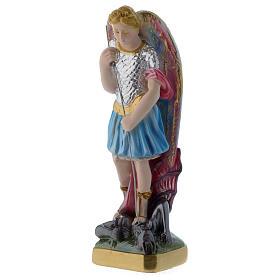 San Michele 20 cm statua gesso madreperlato s2