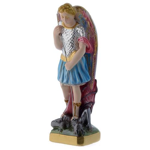 San Michele 20 cm statua gesso madreperlato 2