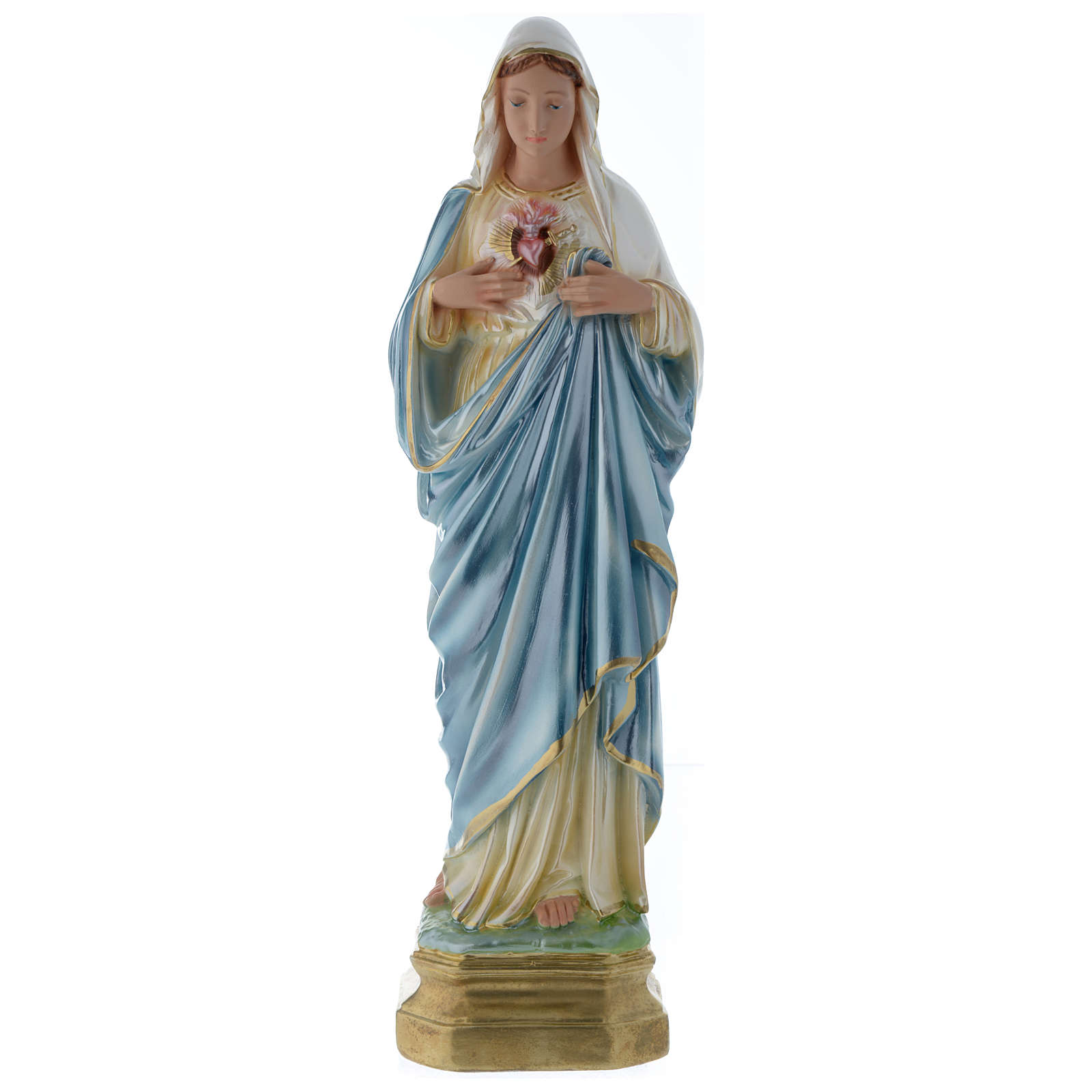 The Sacred Heart of Mary statue 50 cm in mother of pearl gypsum 4