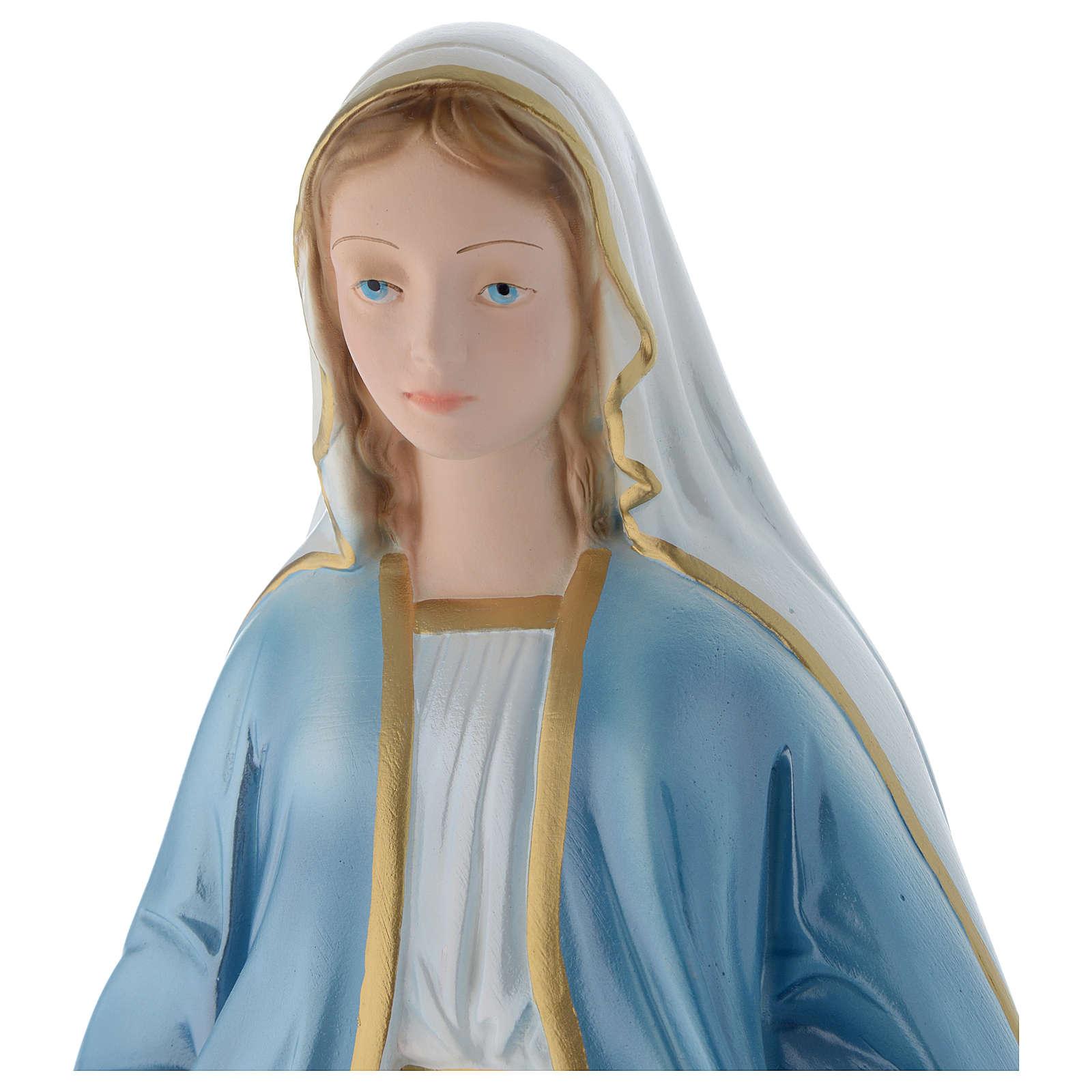Madonna Miracolosa 50 cm statua gesso madreperlato 4