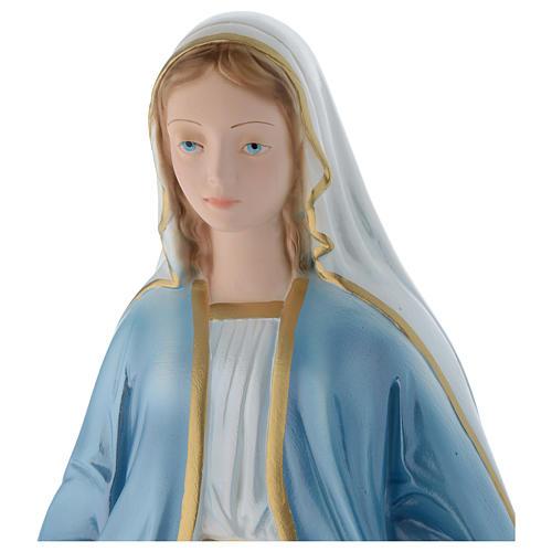 Madonna Miracolosa 50 cm statua gesso madreperlato 2