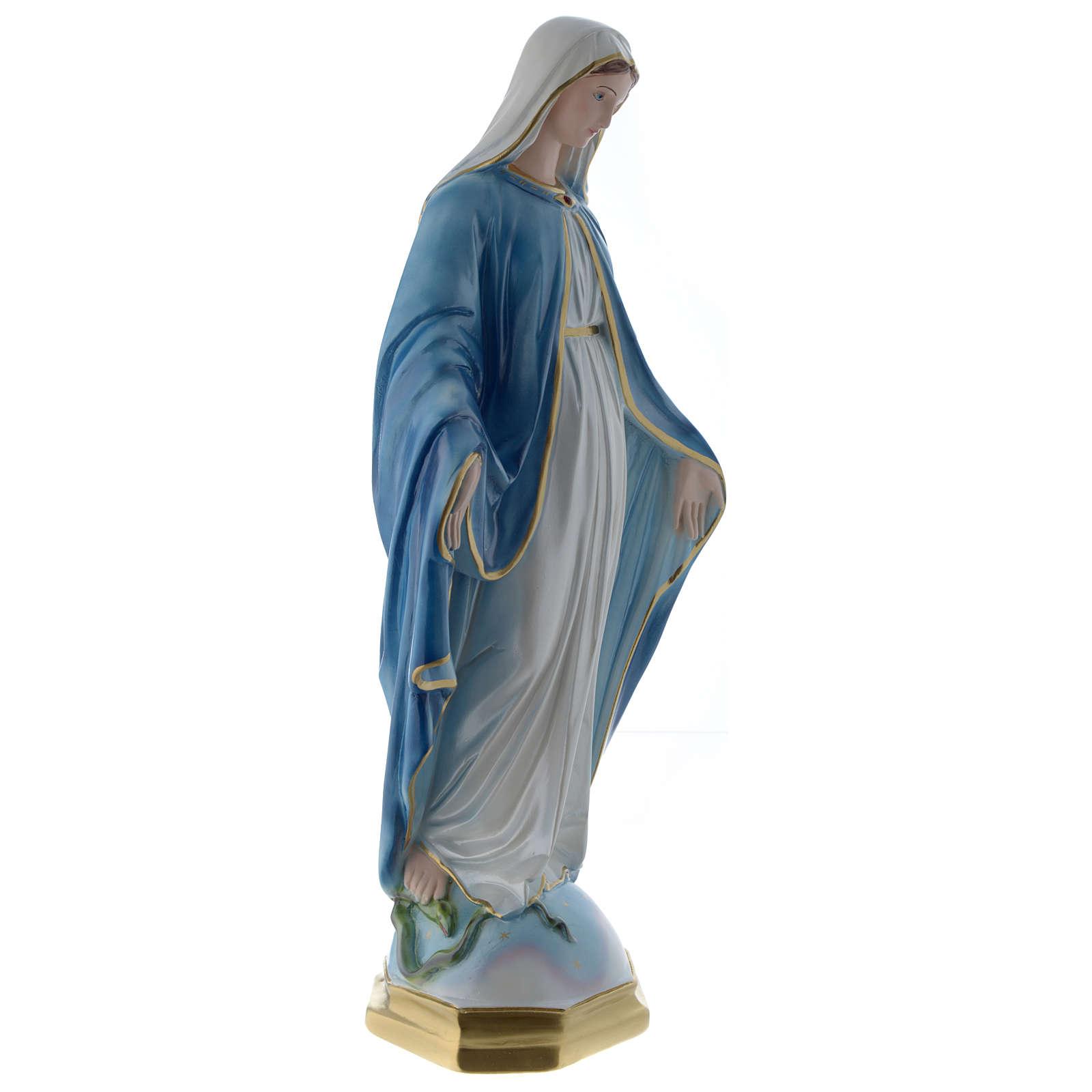 Madonna Miracolosa 60 cm statua gesso madreperlato 4