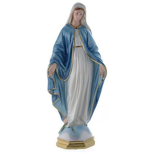 Madonna Miracolosa 60 cm statua gesso madreperlato 1