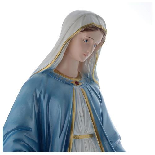 Madonna Miracolosa 60 cm statua gesso madreperlato 2