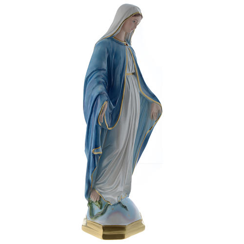 Our Lady of Miracles statue 24 inch in mother of pearl plaster 4