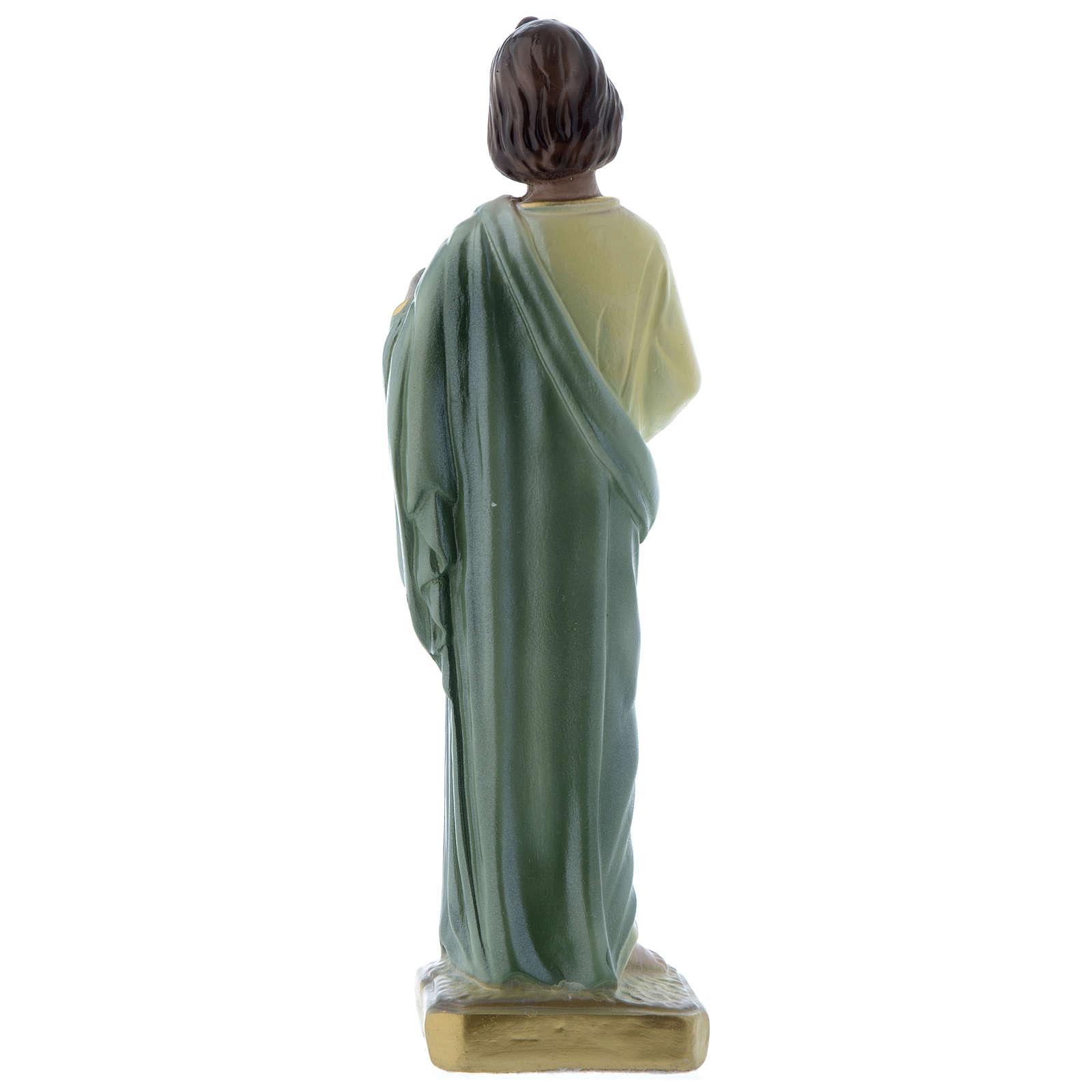 Statua San Giuda 20 cm gesso madreperlaceo 4