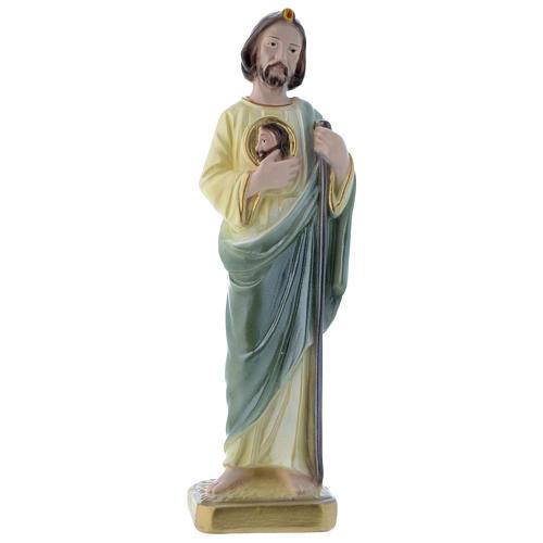 Statua San Giuda 20 cm gesso madreperlaceo 1