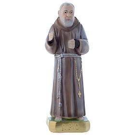 Estatua San Pío de Petralcina 20 cm yeso nacarado s1