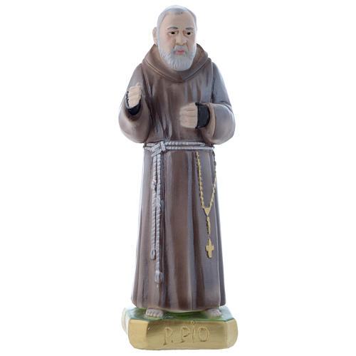 Estatua San Pío de Petralcina 20 cm yeso nacarado 1