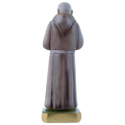Estatua San Pío de Petralcina 20 cm yeso nacarado 3