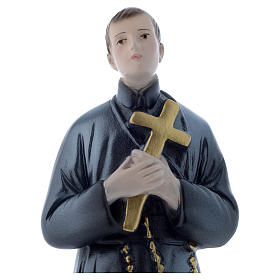 Estatua San Gerardo 30 cm yeso nacarado s2