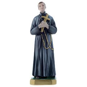 Plaster Statues: Saint Gerard 12 inch statue plaster pearlescent