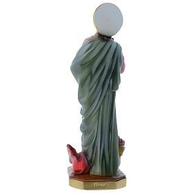 Statua Santa Marta 30 cm gesso madreperlaceo s4