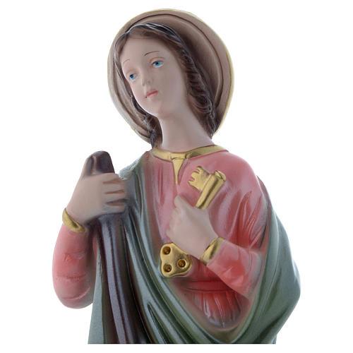 Statua Santa Marta 30 cm gesso madreperlaceo 2
