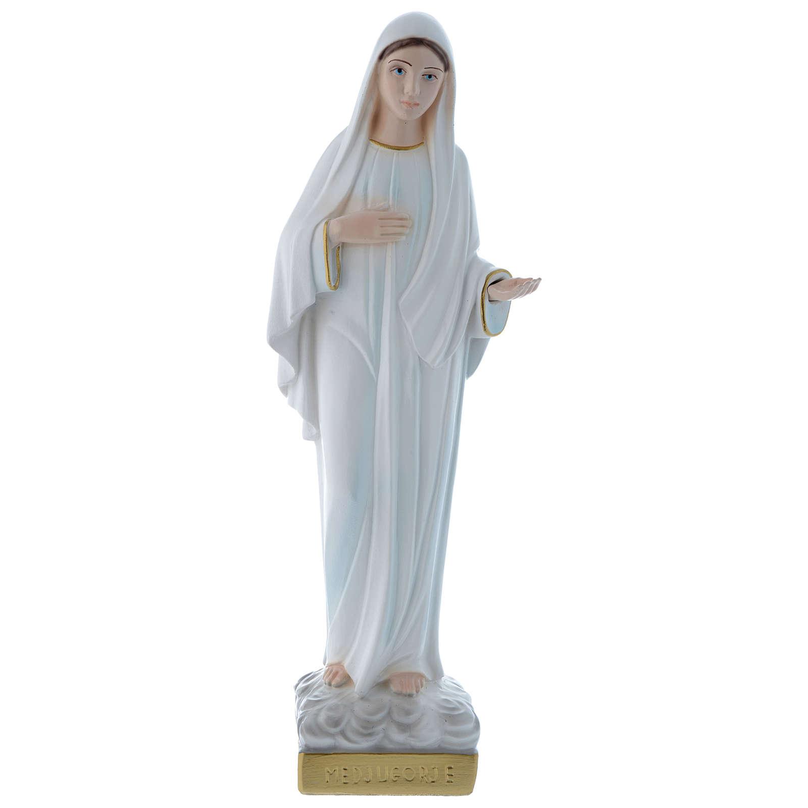 Statua Madonna di Medjugorje 30 cm gesso madreperlaceo 4