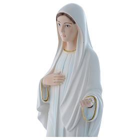 Statua Madonna di Medjugorje 30 cm gesso madreperlaceo s2