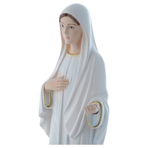 Statua Madonna di Medjugorje 30 cm gesso madreperlaceo 2