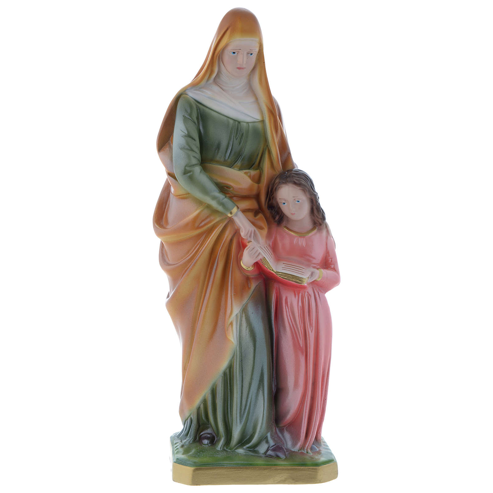 St. Anne statue in plaster, mother-of-pearl effect 30 cm 4