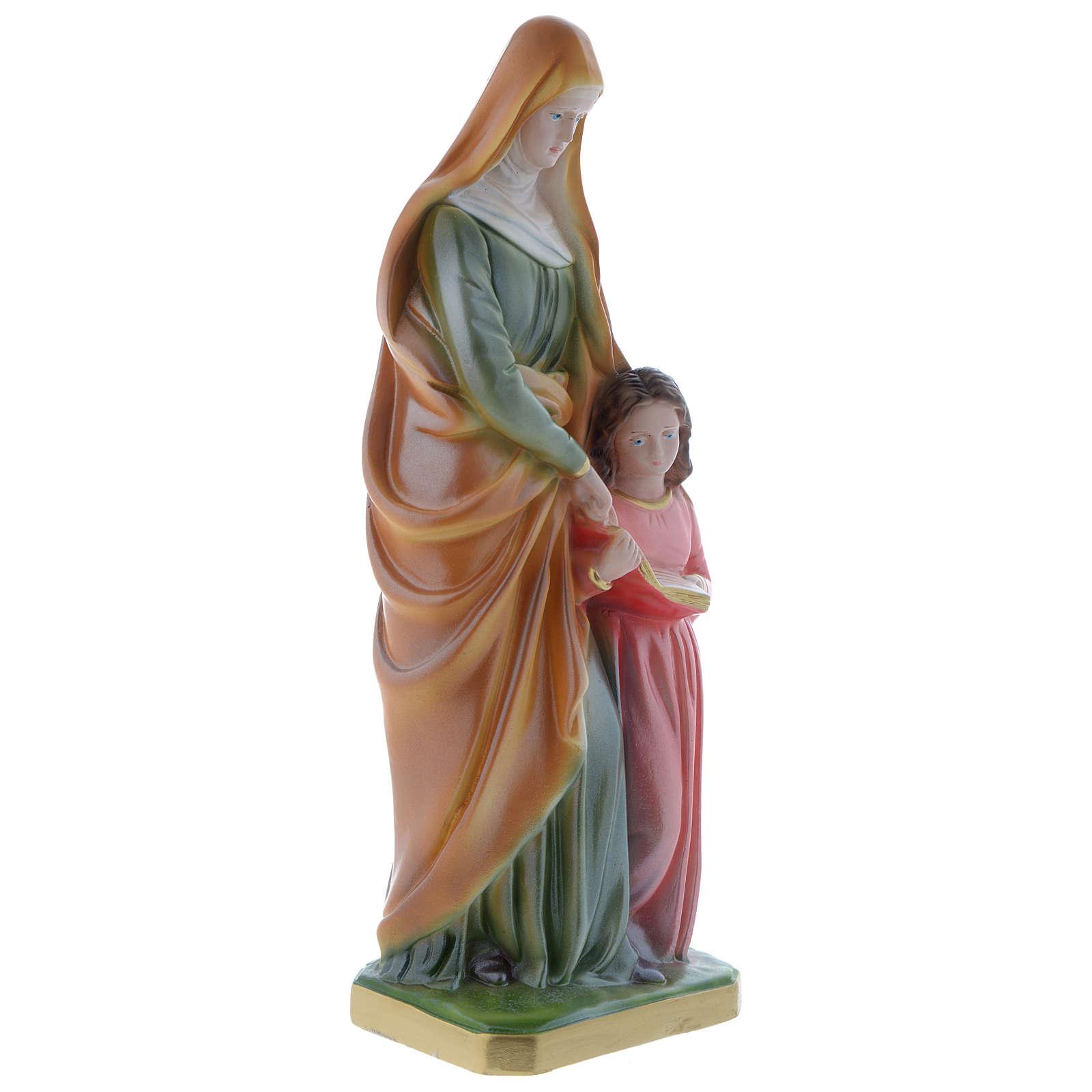 Statue Ste Anne 30 cm plâtre nacré 4