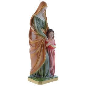 Statue Ste Anne 30 cm plâtre nacré s3
