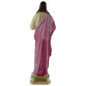 Statua Sacro Cuore di Gesù 50 cm gesso madreperlaceo s4