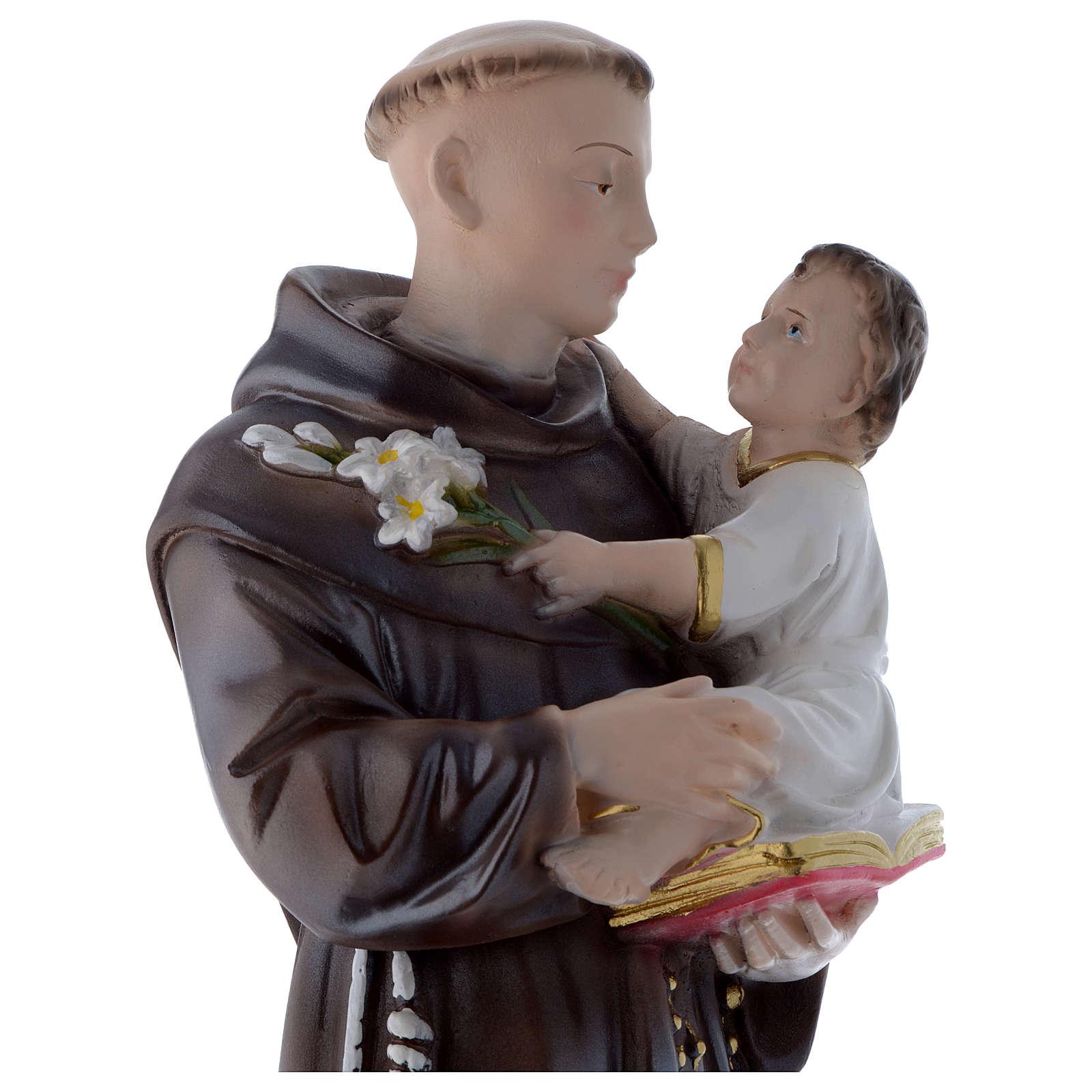 Statua Sant'Antonio da Padova 50 cm gesso madreperlaceo 4