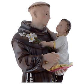 Statua Sant'Antonio da Padova 50 cm gesso madreperlaceo s2