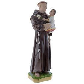 Statua Sant'Antonio da Padova 50 cm gesso madreperlaceo s3